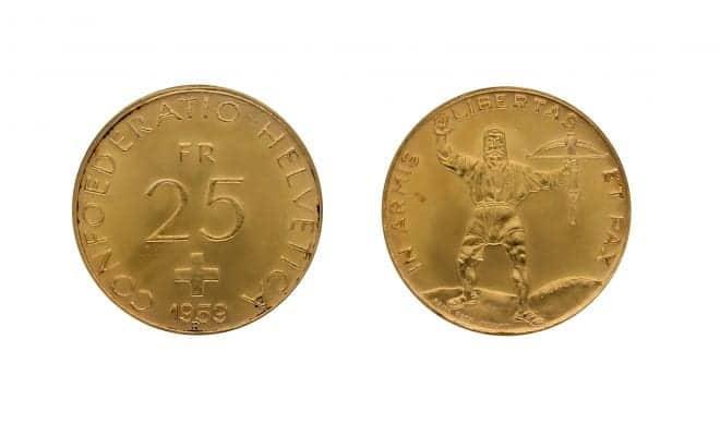 Die Schweizer Nationalbank hat zwischen 1955 und 1959 insgesamt 15 Millionen Exemplare der Goldmünzen zu 25 Franken sowie 6 Millionen Exemplare der 50-Franken-Goldstücke geprägt. Geplant war mit diesen Stücken nicht weniger als eine neue Goldwährung.